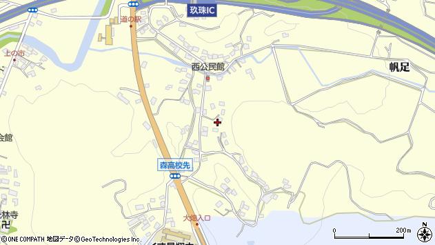 大分県玖珠郡玖珠町帆足725周辺の地図
