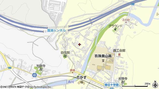 大分県玖珠郡玖珠町帆足2727周辺の地図