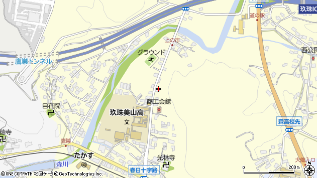 大分県玖珠郡玖珠町帆足120周辺の地図
