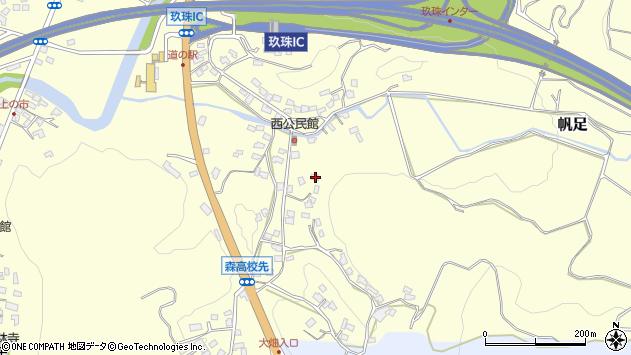 大分県玖珠郡玖珠町帆足724周辺の地図
