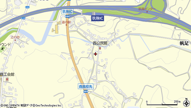 大分県玖珠郡玖珠町帆足738周辺の地図