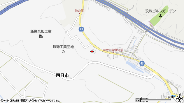 大分県玖珠郡玖珠町四日市174周辺の地図
