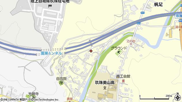 大分県玖珠郡玖珠町帆足治別当周辺の地図