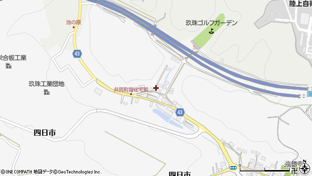 大分県玖珠郡玖珠町四日市216周辺の地図