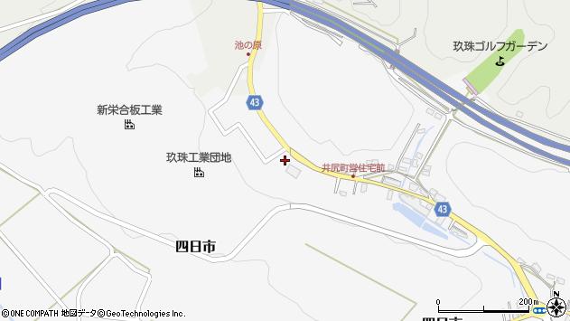 大分県玖珠郡玖珠町四日市175周辺の地図