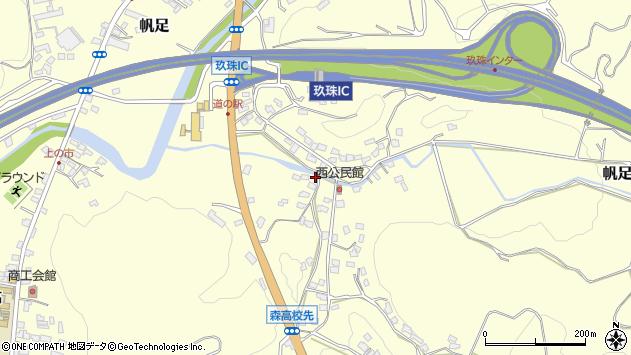 大分県玖珠郡玖珠町帆足892周辺の地図