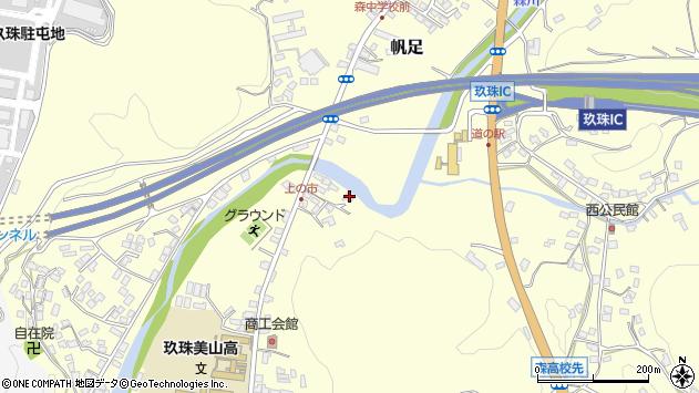 大分県玖珠郡玖珠町帆足8周辺の地図
