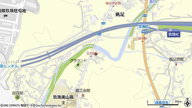 大分県玖珠郡玖珠町帆足4周辺の地図