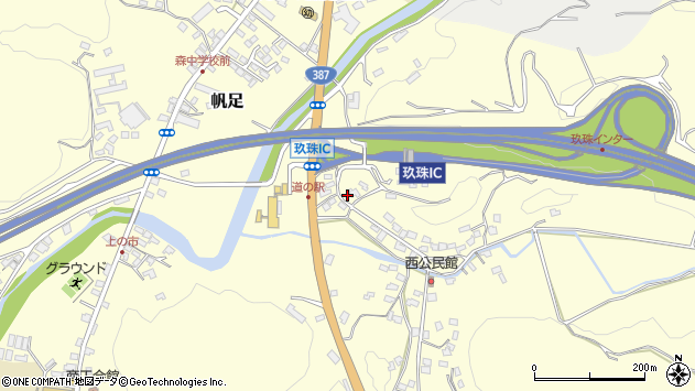 大分県玖珠郡玖珠町帆足2094周辺の地図