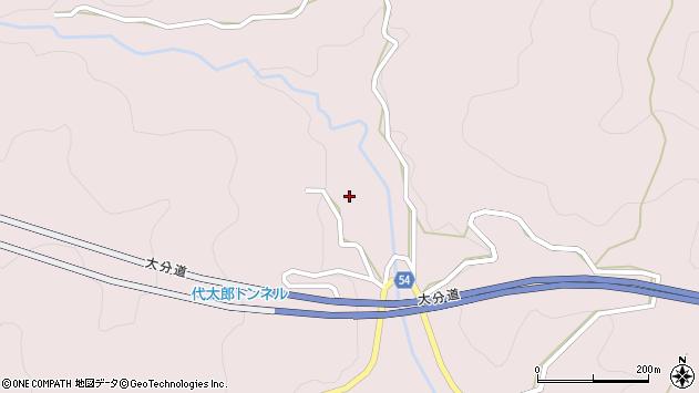 大分県玖珠郡玖珠町戸畑5492周辺の地図