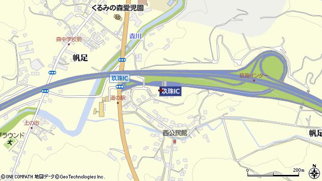 大分県玖珠郡玖珠町帆足2084周辺の地図