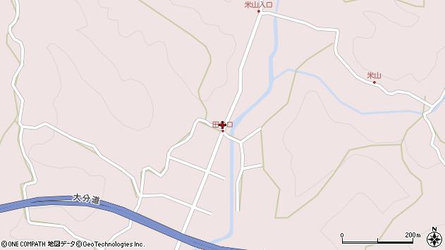 大分県玖珠郡玖珠町戸畑2607周辺の地図