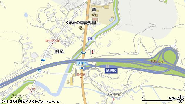大分県玖珠郡玖珠町帆足2100周辺の地図