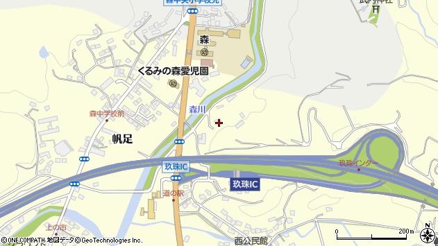 大分県玖珠郡玖珠町帆足2637周辺の地図