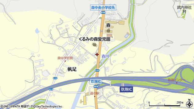 大分県玖珠郡玖珠町帆足2187周辺の地図
