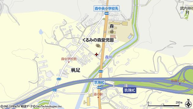 大分県玖珠郡玖珠町帆足2744周辺の地図