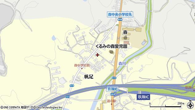 大分県玖珠郡玖珠町帆足2179周辺の地図