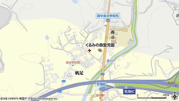 大分県玖珠郡玖珠町帆足2207周辺の地図