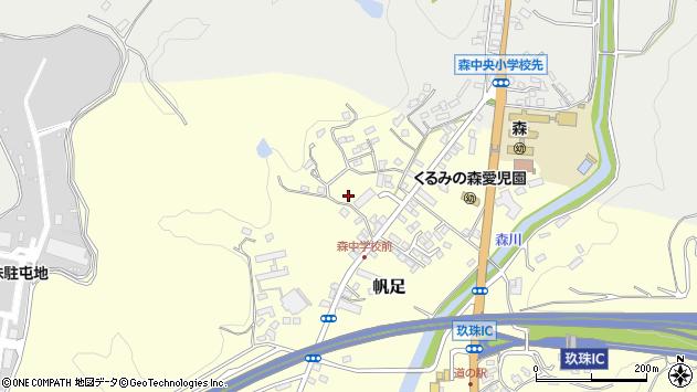 大分県玖珠郡玖珠町帆足2232周辺の地図