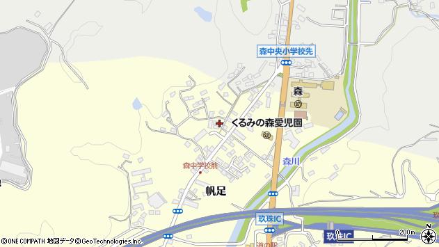 大分県玖珠郡玖珠町帆足2235周辺の地図