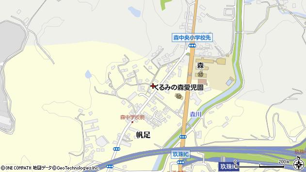 大分県玖珠郡玖珠町帆足2110周辺の地図