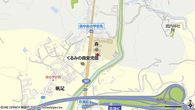 大分県玖珠郡玖珠町帆足2195周辺の地図