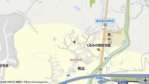 大分県玖珠郡玖珠町帆足2230周辺の地図