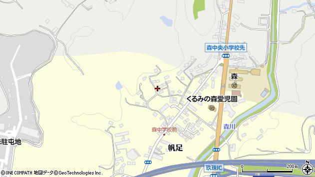 大分県玖珠郡玖珠町帆足2229周辺の地図