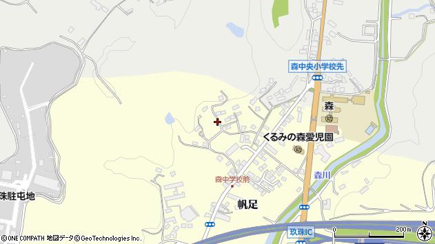 大分県玖珠郡玖珠町帆足2282周辺の地図