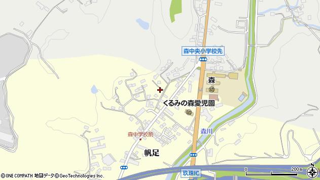 大分県玖珠郡玖珠町帆足2217周辺の地図