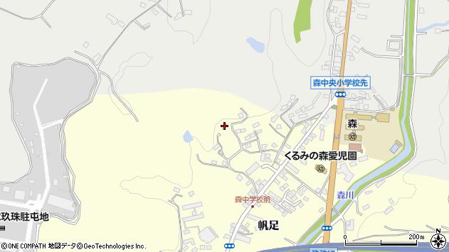 大分県玖珠郡玖珠町帆足2283周辺の地図