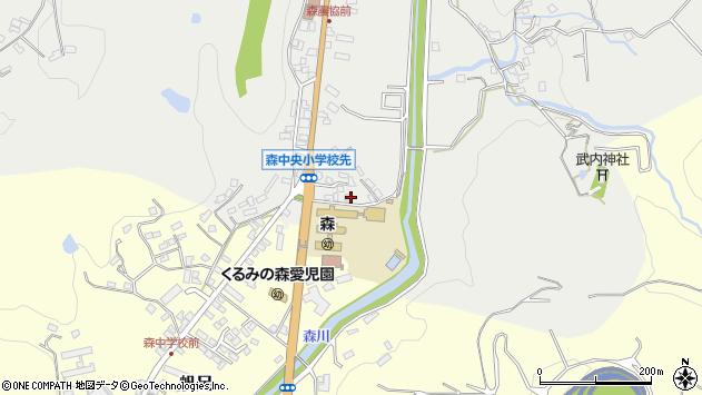 大分県玖珠郡玖珠町森16周辺の地図