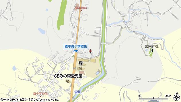 大分県玖珠郡玖珠町森17周辺の地図