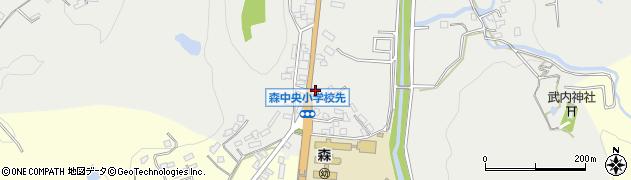 大分県玖珠郡玖珠町森21周辺の地図