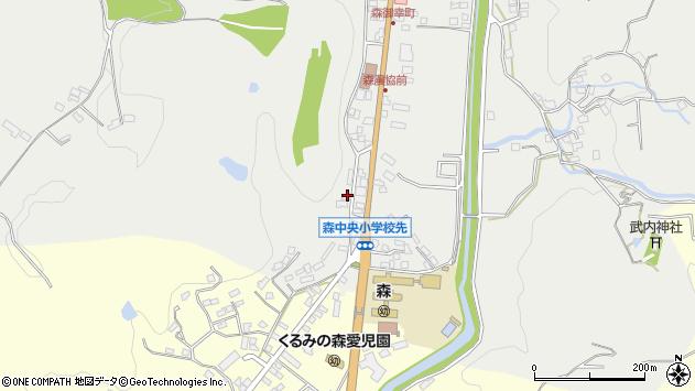 大分県玖珠郡玖珠町森1135周辺の地図