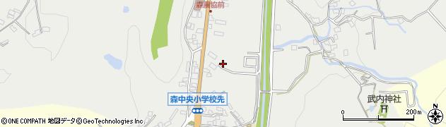 大分県玖珠郡玖珠町森辰ケ鼻周辺の地図