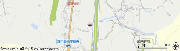 大分県玖珠郡玖珠町森61周辺の地図