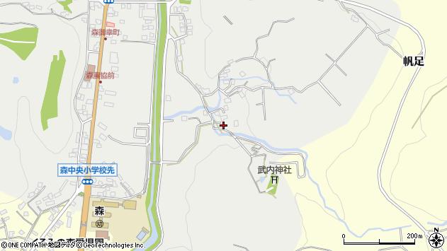 大分県玖珠郡玖珠町森174周辺の地図