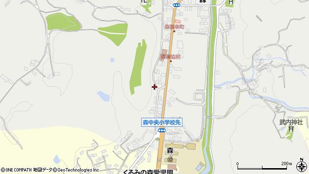 大分県玖珠郡玖珠町森1126周辺の地図