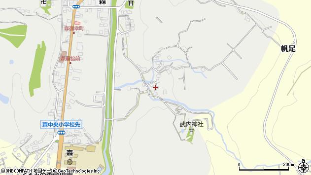 大分県玖珠郡玖珠町森172周辺の地図