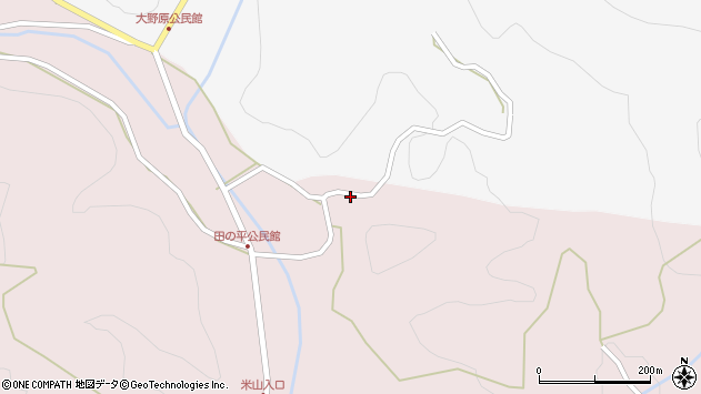 大分県玖珠郡玖珠町戸畑2316周辺の地図
