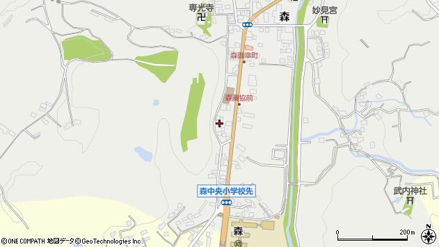 大分県玖珠郡玖珠町森26周辺の地図