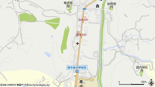大分県玖珠郡玖珠町森29周辺の地図