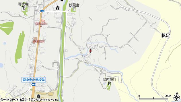 大分県玖珠郡玖珠町森153周辺の地図