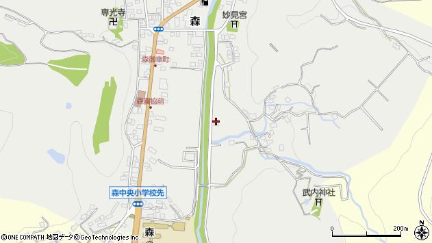 大分県玖珠郡玖珠町森196周辺の地図