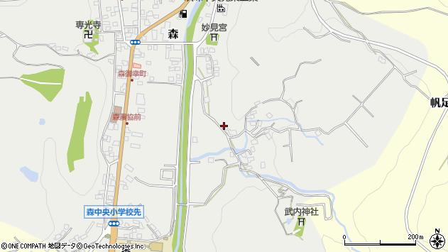 大分県玖珠郡玖珠町森226周辺の地図