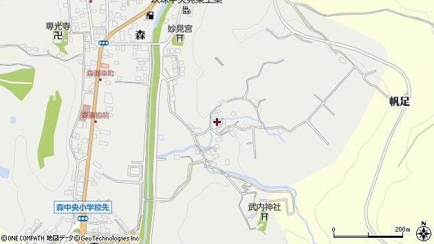 大分県玖珠郡玖珠町森160周辺の地図