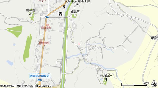 大分県玖珠郡玖珠町森227周辺の地図