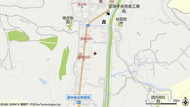 大分県玖珠郡玖珠町森御幸周辺の地図