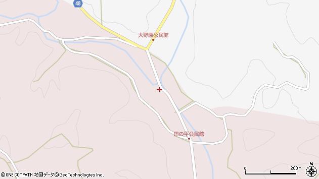 大分県玖珠郡玖珠町戸畑2447周辺の地図
